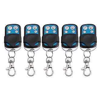 Remote controls 5pcs gates door 4ch 433mhz rf wireless remote control learning code 1