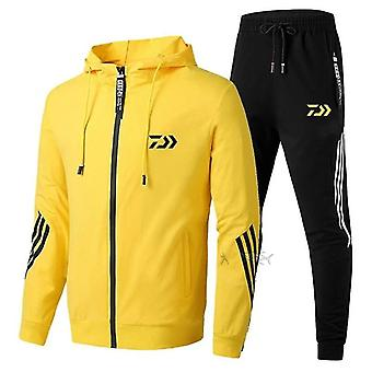 Fishing Suit Cotton Outdoor Camping Hiking Sport Set Striped Fishing