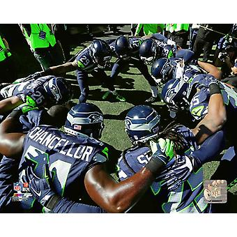 Seattle Seahawks 2015 Huddle foto afdrukken
