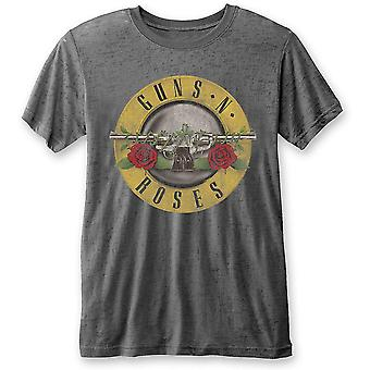 Guns n' roses unissex tee: logo tipo clássico (burn out)
