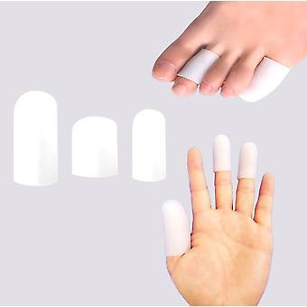 Cubierta protectora de ampollas anti-fricción para dedos de las manos y los dedos de los dedos, material de gel, suave, 14pcs