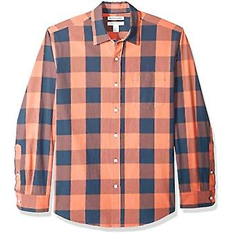 Essentials Men's Long-Sleeve Regular-fit Casual Poplin Shirt