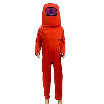 3pcs Set Halloween Children's Cosplay Among Us Costumes Kid's Fancy Dress Gaming Cosplay