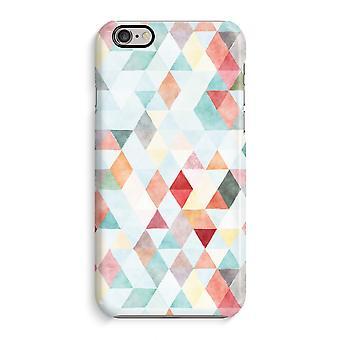 Case 3D para iPhone 6 6s (brilhante)-pastel de triângulos coloridos