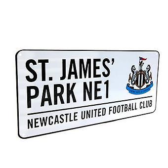 Newcastle United straatnaambord