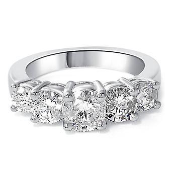 2ct 5-Stone Diamond Anniversary Promise 14K White