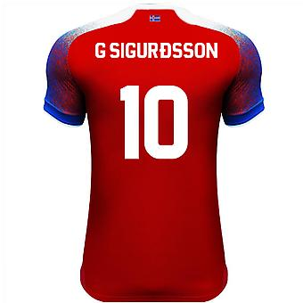2018-2019 Iceland Third Errea Football Shirt (G Sigurdsson 10)