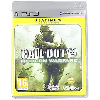 Call of Duty 4 Modern Warfare-Platinum (PlayStation 3)-fabriken förseglad