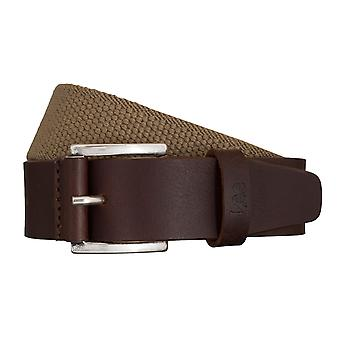 Lee belts men's belts textile woven belt brown/beige 5423