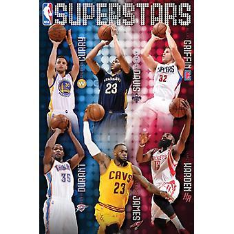 НБА - Суперстар 15 Плакат Печать