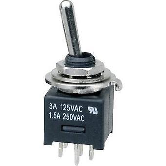 SCI MTE202A1 Toggle switch 250 V AC 3 A 2 x On/On latch 1 pc(s)