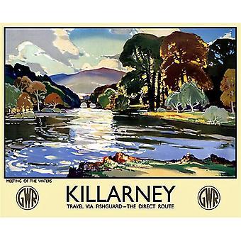 Killarney (vanha rautatie jKr.) Metal allekirjoittaa 400 X 300 Mm