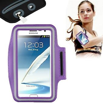 Sports armband for Samsung Galaxy touch 2 N7100 / touch 3 N9000 purple / violet
