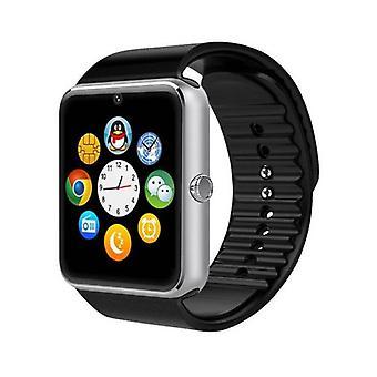 Spullen Certified® Original GT08 Smartphone Watch OLED SmartWatch Android iOS zilver