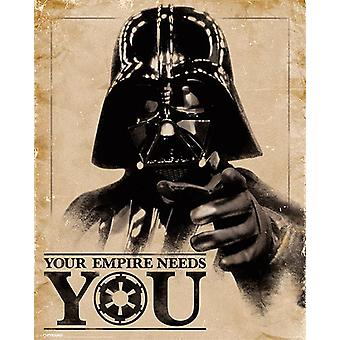 Star Wars Poster Darth Vader Your Empire Needs You Small Size 50 x 40 cm