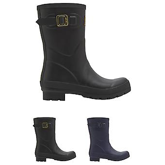 Mujeres julios Kelly mediados altura botas invierno nieve bota impermeable de goma