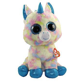 TY Beanie Boo stora Blitz Glitter Eye rosa Enhörningen 42 cm