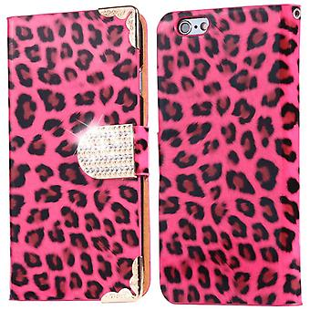 Funda de billetera Leopard - iPhone 8