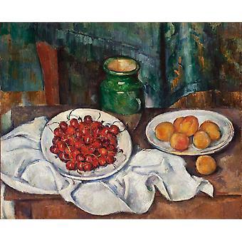 Cherries and Peaches, Paul Cezanne, 50x61cm