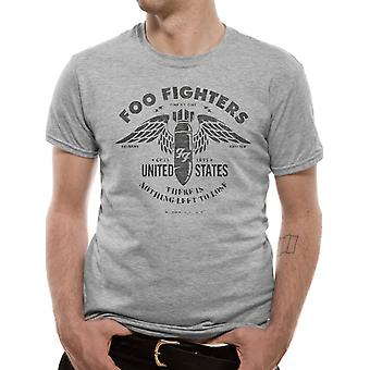 The Foo Fighters-Stencil Grey T-Shirt