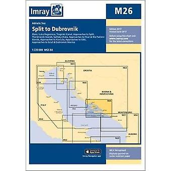 Imray Chart M26 - Split to Dubrovnik by Imray - 9781846239052 Book