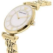 Armani watches ar1907 mother of pearl & gold tone stainless steel ladies watch