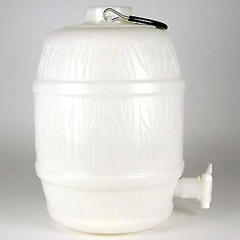 2 Gallon Basic White Plastic Barrel With Pressure Release Only
