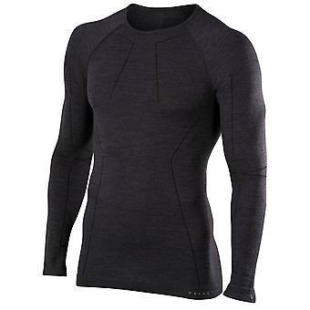 Falke Wool-Tech-Langarm-Shirt - schwarz