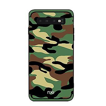 NXE Samsung Galaxy S10 + TPU-shell-camouflage-Armegrön