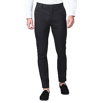 Gebruik van Londen Mens zwart pak broek Skinny Fit