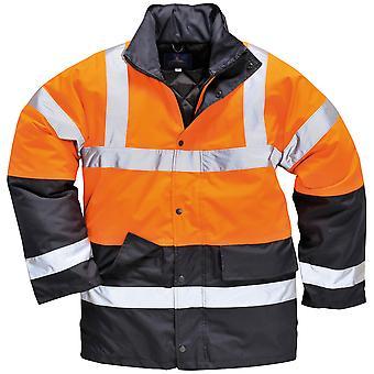 Portwest Unisex slijtvast Hi Vis verkeer jas / Safetywear / werkkleding (Pack van 2)
