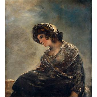 Milkgirl from Bordeaux,Francisco Goya,50x45cm