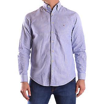 Gant Ezbc144066 Uomo's Camicia di cotone azzurro