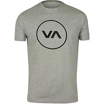 RVCA Mens VA Sport Position T-Shirt - Athletic Gray/Black