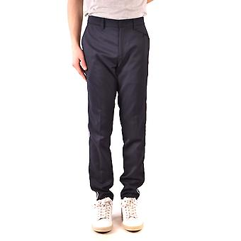 Paolo Pecora Ezbc059052 Men's Black Wool Pants