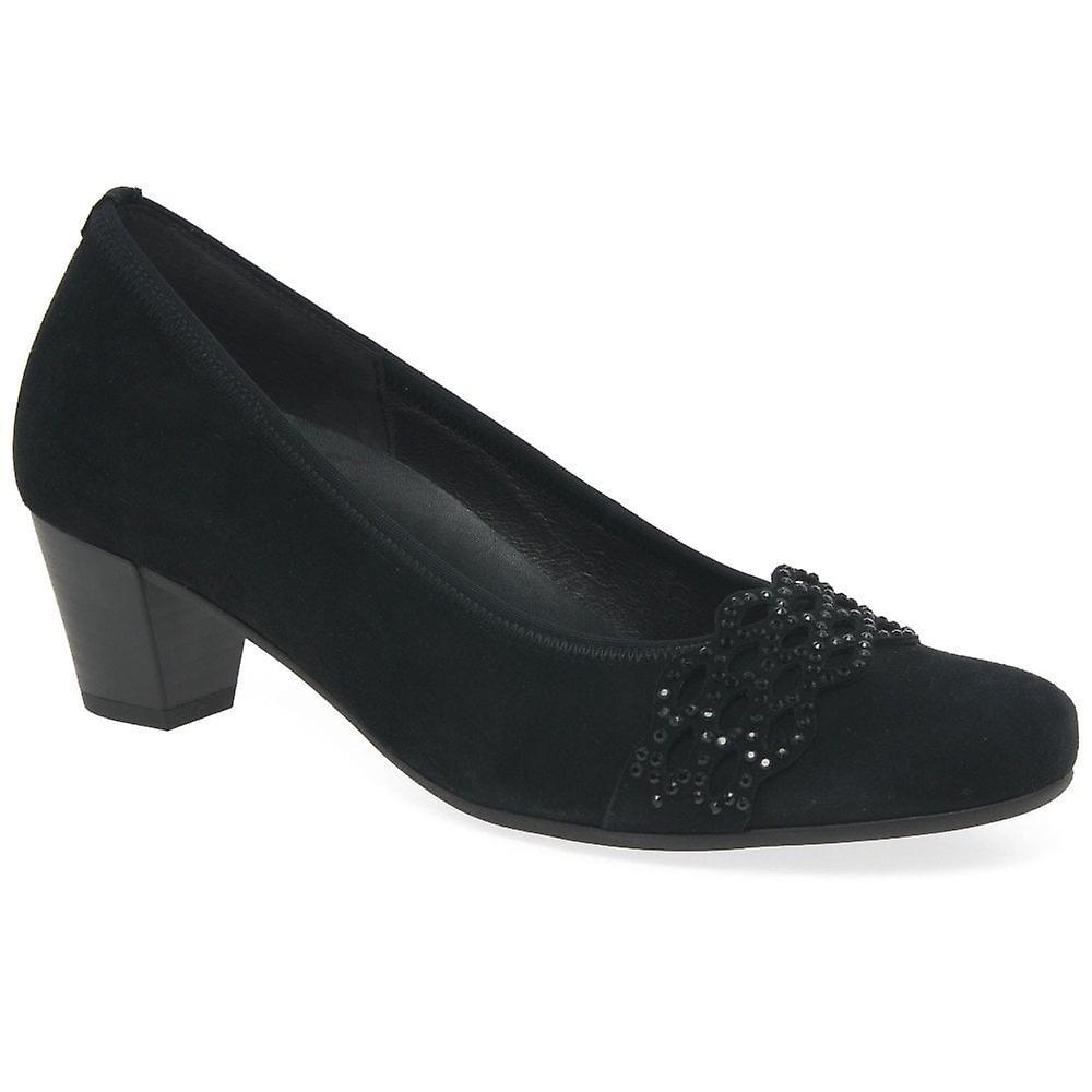 Gabor Dolores Womens Suede Court Shoes hCvhr