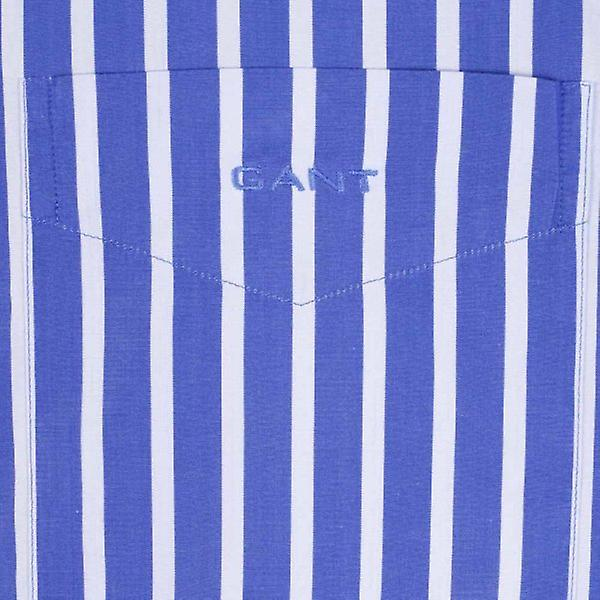 Gant Regent Poplin Stripe Shirt - Sea Blue