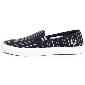 Fred Perry Turner Slip on Retro Stripe Men's Trainers B8252-608