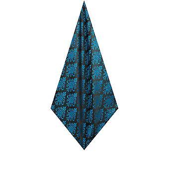 Dobell mens blå lomme firkant lommetørklæde satin føler stof jacquard mønster