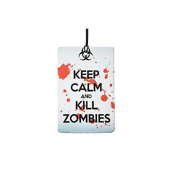 Bewahren Sie Ruhe und töten Sie Zombies Auto-Lufterfrischer