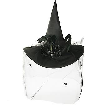 Czarownica luksusowy czarny kapelusz czarownicy Halloween