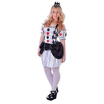 Bristol Novelty Teen Girls Harlequin Card Costume