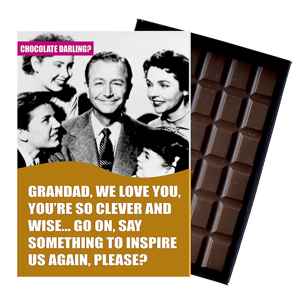 Funny Grandad Birthday Gift 85g boxed Chocolate Greeting Card Present for Grandad Grampy CDL156