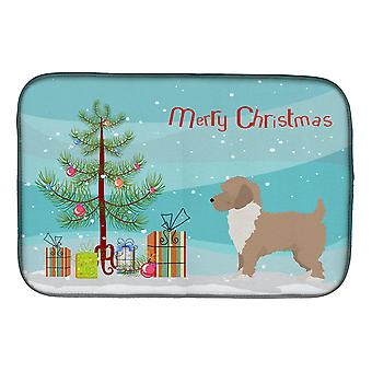 Carolines Treasures  CK3883DDM Yorkiepoo #2 Christmas Tree Dish Drying Mat