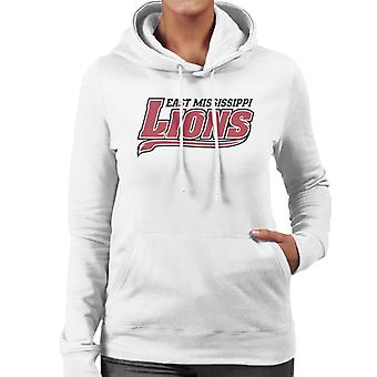 East Mississippi Community College Lions Dark Tail Logo Women's Hooded Sweatshirt