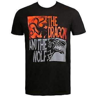 Draken och Wolf Game of Thrones män ' s T-shirt