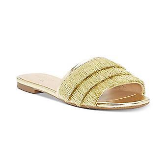 INC internationella koncept Maira Slide sandaler guld 9.5 M