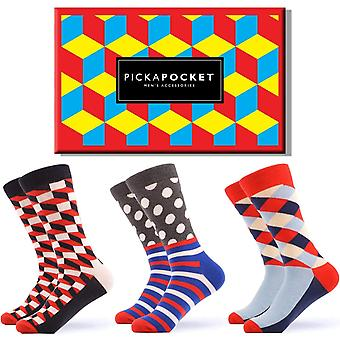 Men's geometric gift box 3 pairs of socks