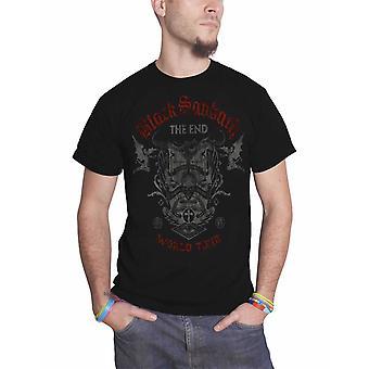 Логотип группы Black Sabbath T рубашка конец мир тур новый официальный Мужская черная