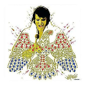 Elvis Presley Coaster American Eagle Official 9.5cm x 9.5cm single drink